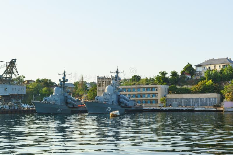 Missile boats stock photos