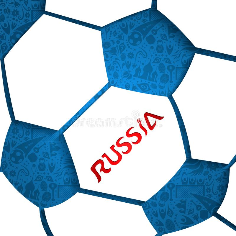 Russia cutout soccer ball background stock illustration
