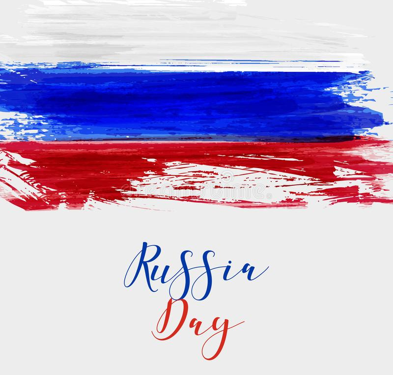 Russia Flag Background In Round Shape Stock Vector