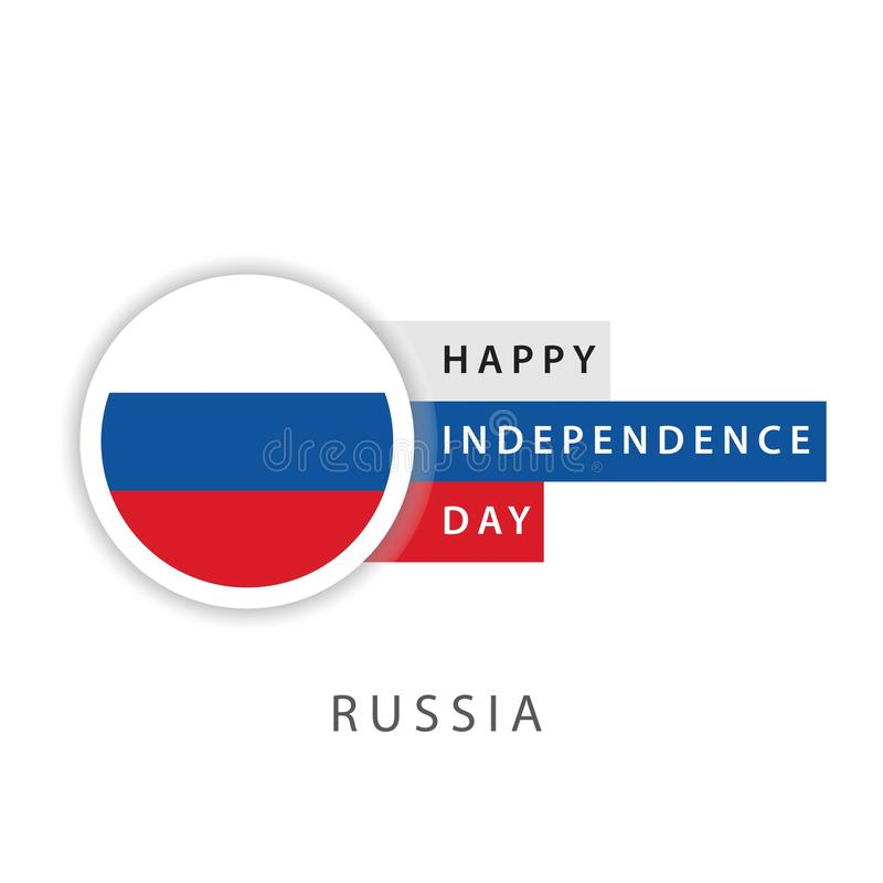 Happy Russia Independence Day Vector Template Design Illustrator. Russia day june 12 russian independence background flag happy blank booklet federation card royalty free illustration