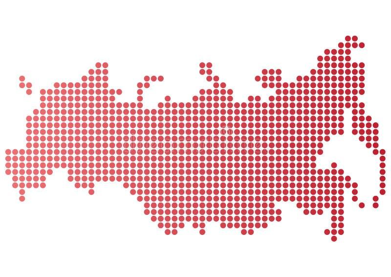 Russia Dot Map stock illustration