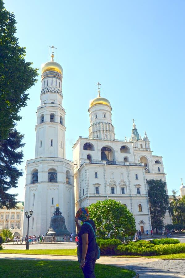 Russia Ensemblie of the Kremlin bell towers 1505. Ensemblie of the Kremlin bell towers 1505-08 Russia Moscow stock image