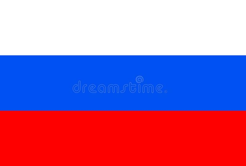 Russia Flag official colors. Vector Illustration vector illustration