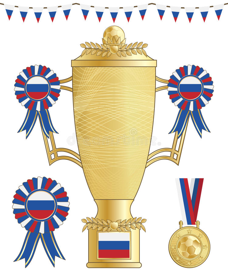 Russia football trophy royalty free illustration