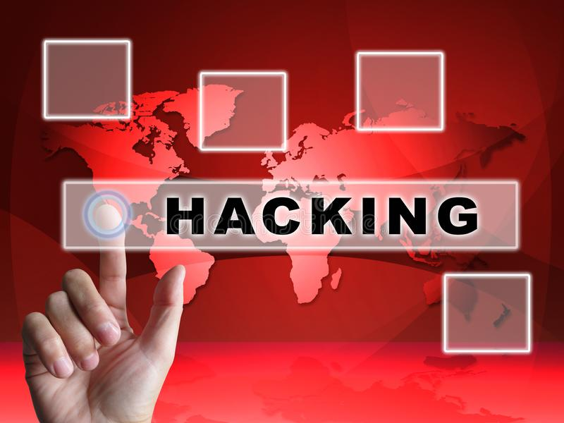 Russia Hacking American Elections Data 3d Illustration royalty free stock images