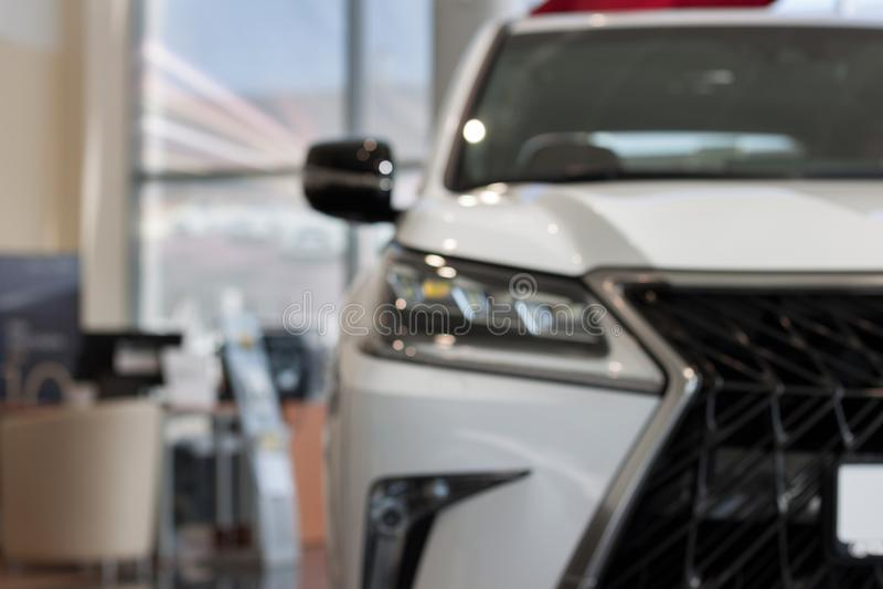 Russia, Izhevsk - April 21, 2018:Showroom Lexus. New cars at dealer showroom. royalty free stock images