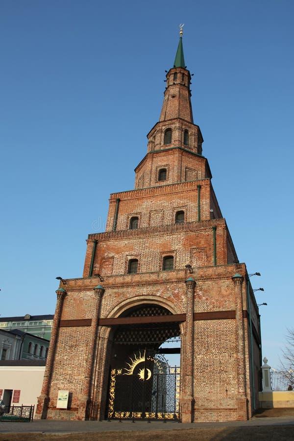 Russia. Kazan. Soyembika Tower in Kremlin royalty free stock photo