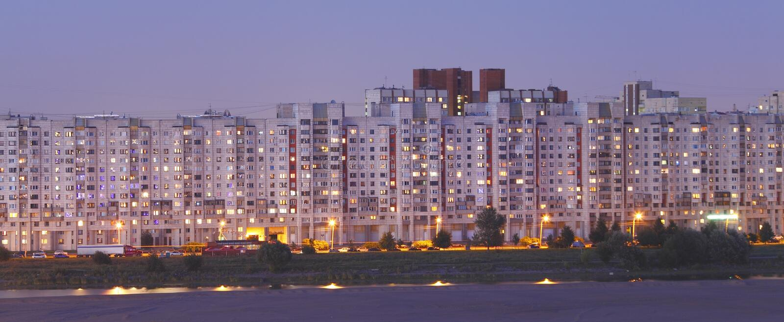 Download Russia living stock image. Image of home, high, evening - 21160581