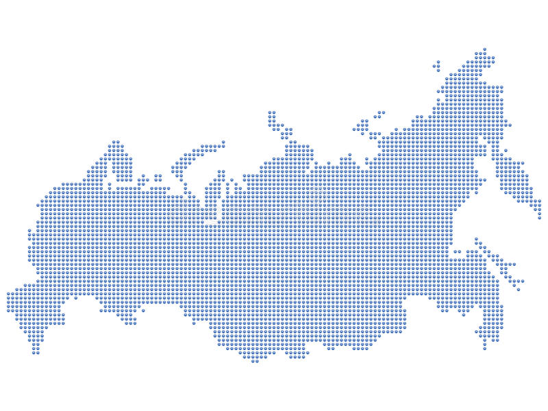 Russia map dots Russia map dots stock