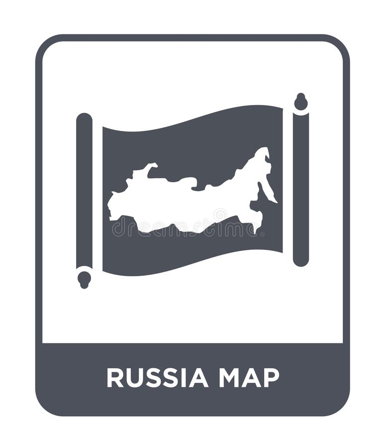 Russia map icon in trendy design style. russia map icon isolated on white background. russia map vector icon simple and modern. Flat symbol for web site, mobile vector illustration