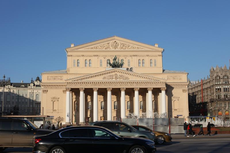 Russia. Moscow. Big theater on a sunny day. stock image