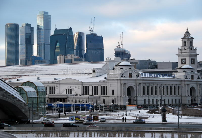 Download Russia. Moscow Of City. The Kiev Station. Stock Image - Image: 19005419