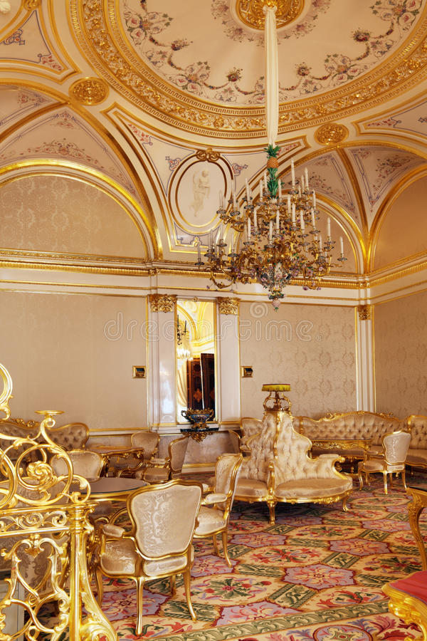 The Royal accommodations. Russia, Moscow, Grand Kremlin Palace - historical old building built from 1837 to 1849, at the present time the ceremonial residence of royalty free stock photo