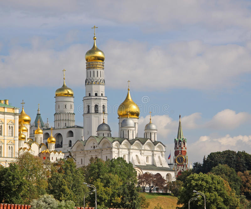 Russia, Moscow Kremlin.Cathedral and bell tower stock photo