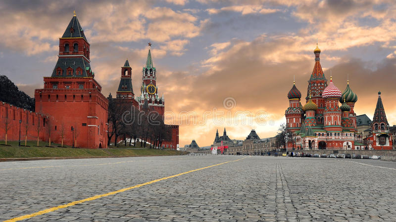 Russia. Moscow. The red area. Vasilievsky descent