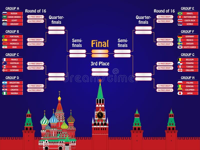 Football cup 2018. vector illustration