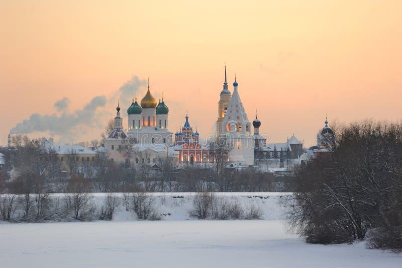 Russia. Moscow region. Ensemble of Kolomna Kremlin royalty free stock photo