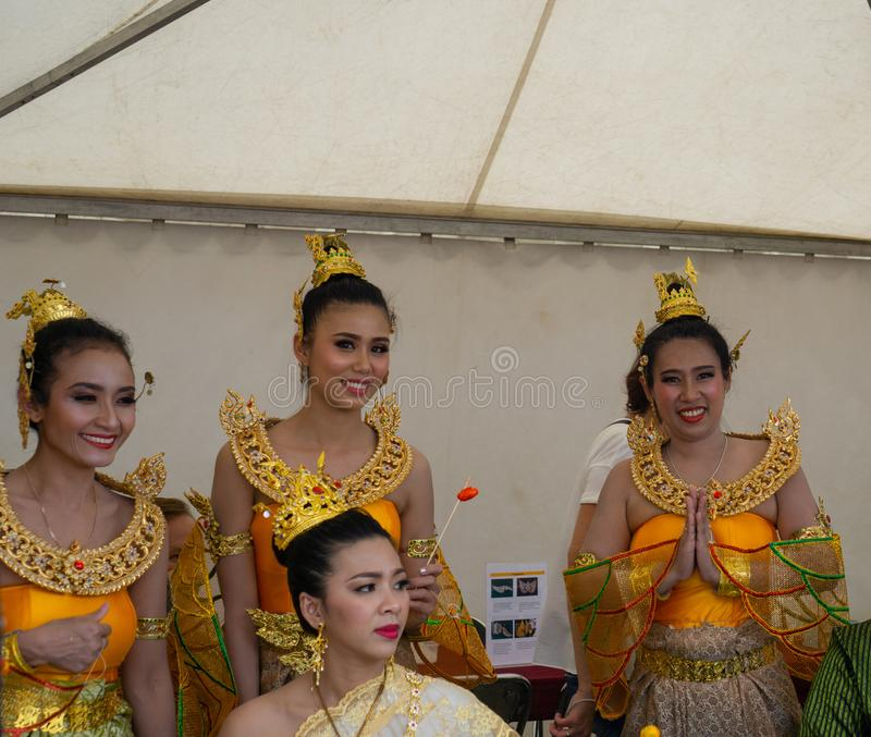Russia, Moscow, 20-21th July 2019, annual Thai festival in Moscow, Sokolniki park. stock image