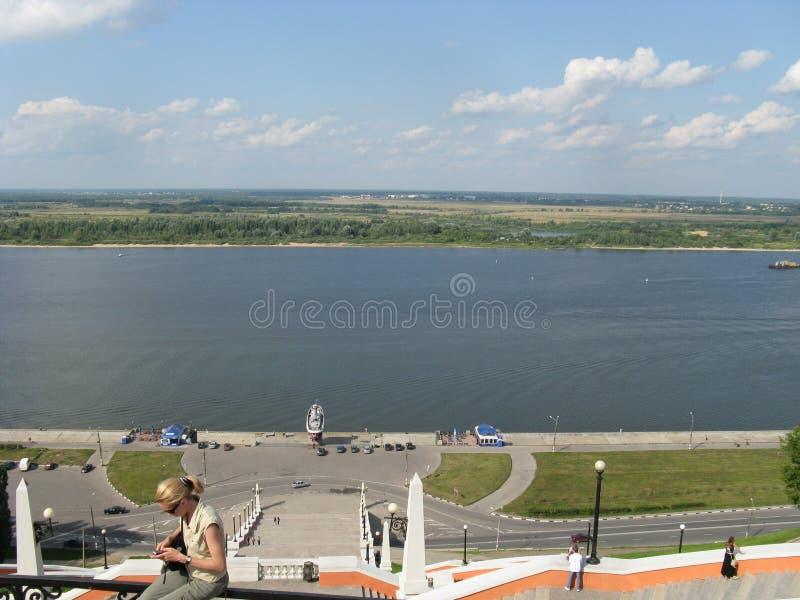 Russia Nizhny Novgorod Volga summer view stock photo