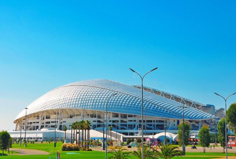 Russia - October 2 2018 Sochi Olympic Park.Stadium arena Fisht Sochi. Russia - October 2 2018 Sochi Olympic Park.Stadium football arena Fisht Sochi stock image