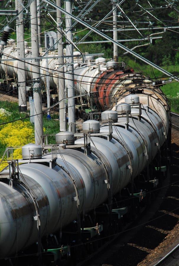 Russia. Oil tank truck train. Russia oil and gas industry. Crude oil tank truck train stock photo