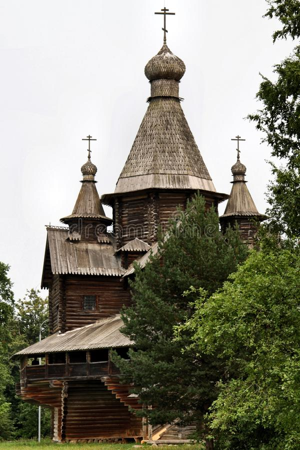 Russia: Old wooden architechture stock photos