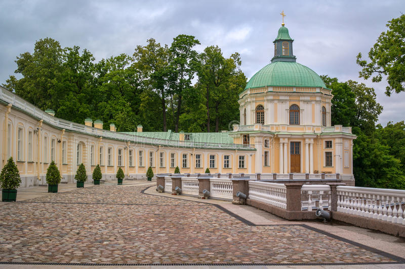 Russia, palace of Menshikov in mansion Oranienbaum in town Lomonosov. Oranienbaum, Russia, palace of Menshikov in mansion Oranienbaum in town Lomonosov. Right royalty free stock photo