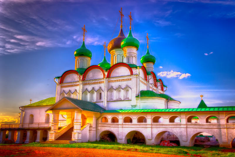 Russia Pechersky ascension monastery Nizhny Novgorod royalty free stock photos
