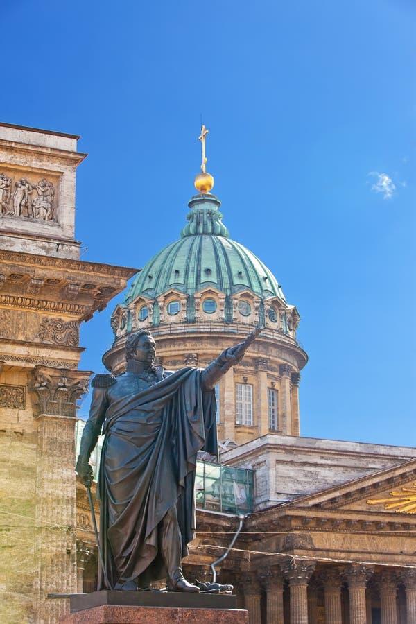Russia.Petersburg.monument aan Barclay DE Tolli stock foto