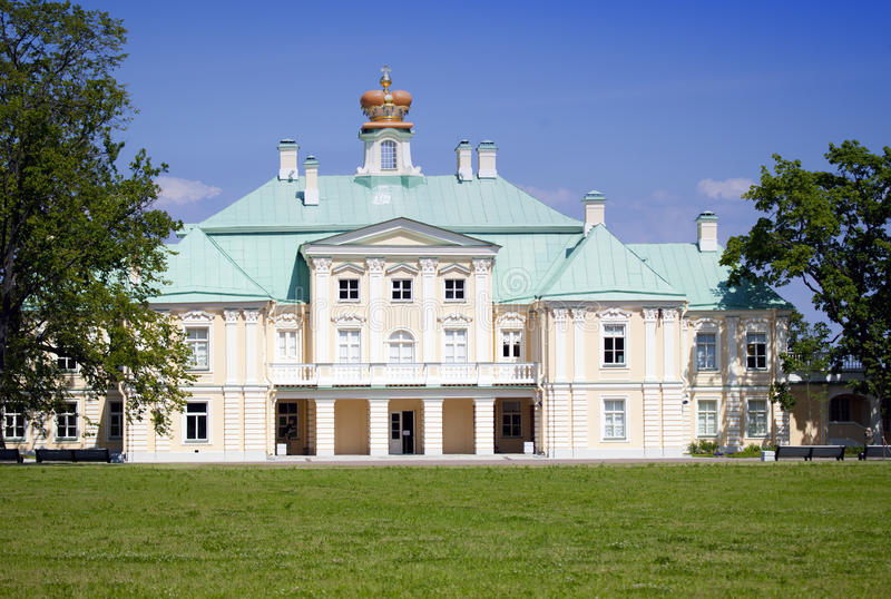 Russia. Petersburg. Oranienbaum (Lomonosov). lower park. Big Menshikovsky palace. Russia. Petersburg. Oranienbaum (Lomonosov). lower park. Big Menshikovsky stock photo
