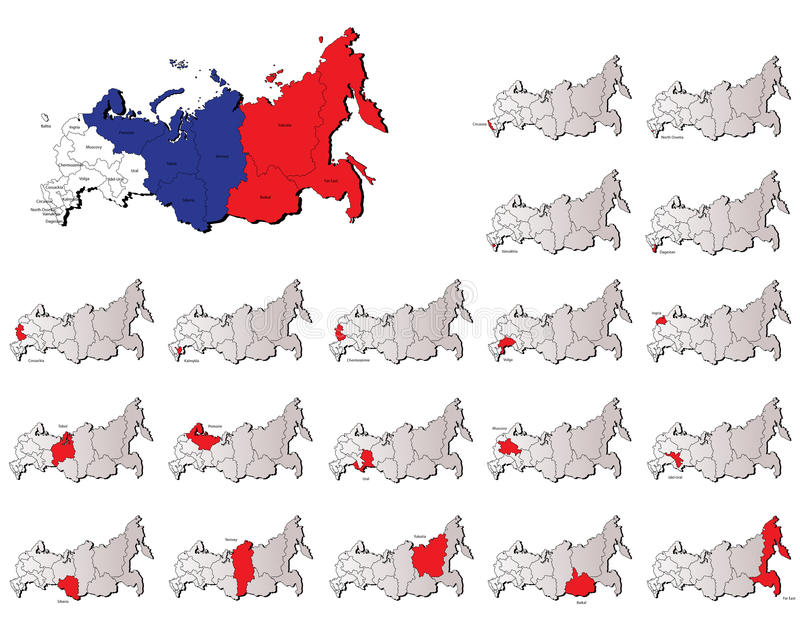 Download Russia provinces maps stock vector. Illustration of administrative - 31583047
