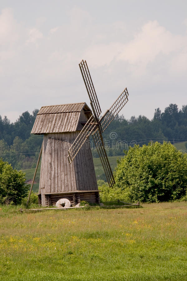 Free Russia. Pskov Region. Windmill Stock Photography - 9767382