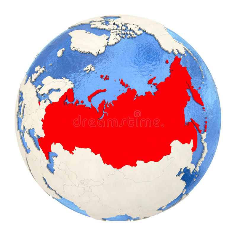 Russia in red on full globe isolated on white stock illustration download russia in red on full globe isolated on white stock illustration illustration of asia gumiabroncs Images