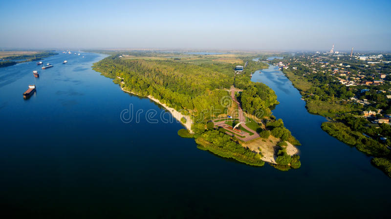 Russia. Rostov-on-Don. Kumzhenskaya Grove. War Memorial World Wa. View Kumzhenskuyu grove, Don and Dead Donets. Rostov-on-Don. Russia royalty free stock photography