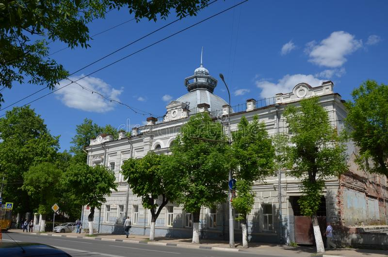 Russia. Ryazan. Building in the old part of the city. royalty free stock photo