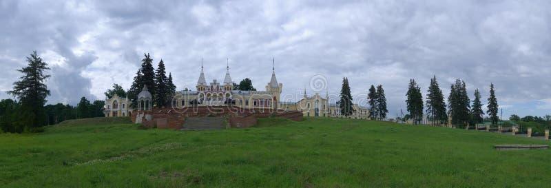 Russia, Ryazan region, Kiritsy. Mansion of baron Von Dervis in village Kyritz, Ryazan region, Russia. D manor house of Baron von Derviz in Kiritsy village stock photos