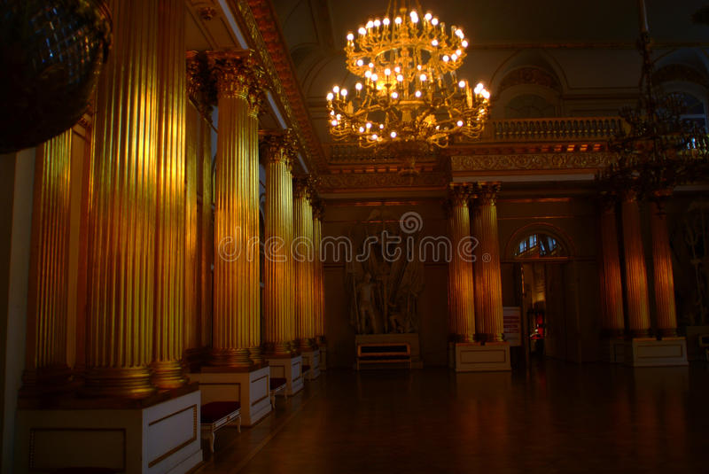 Russia's winter palace of saint Petersburg royalty free stock photo