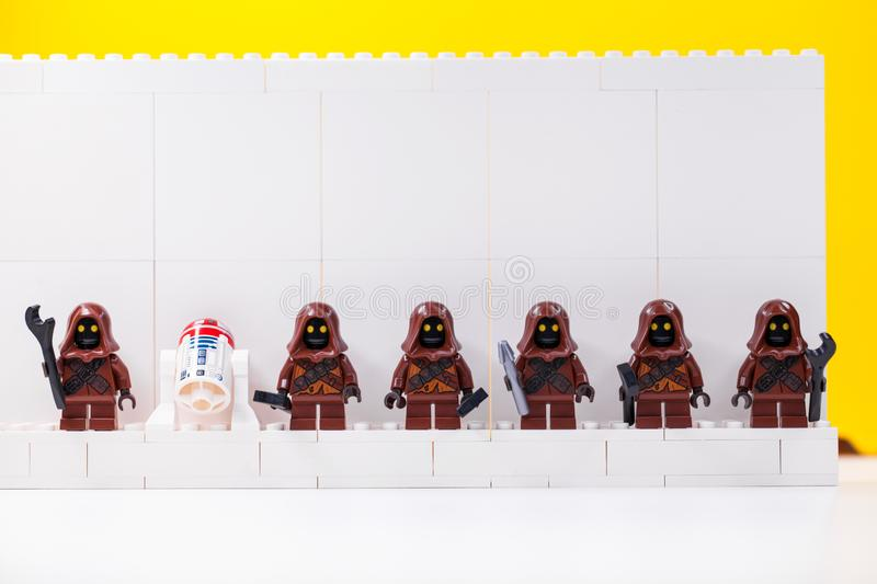 RUSSIA, SAMARA, DECEMBER 18, 2019. Constructor Lego Star Wars. Mini-figures soldiers from different episodes of the sagas. RUSSIA, SAMARA, DECEMBER 18, 2019 royalty free stock images