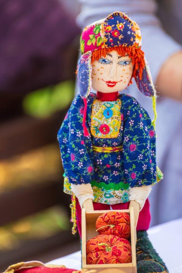 Folk rag doll at the fair. Russia, Samara, September 2018: Folk rag doll at the fair royalty free stock images