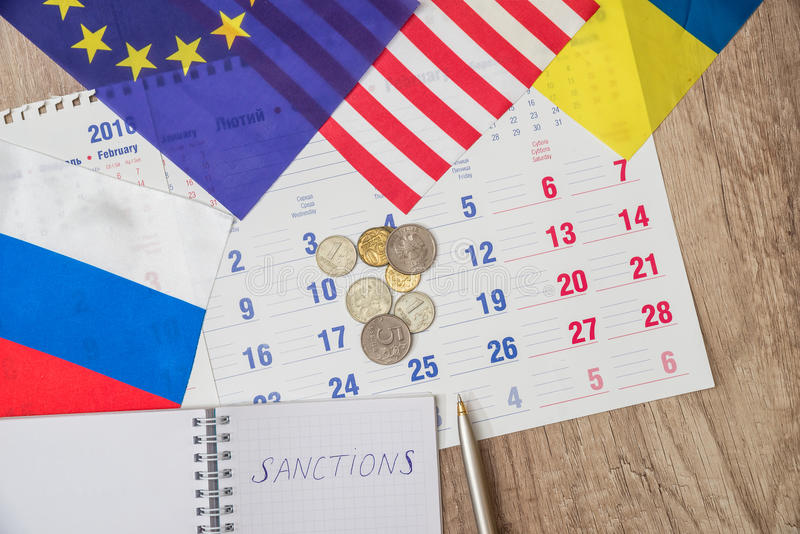 Russia sanctions stock images