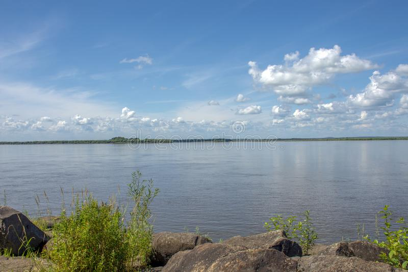 Sikachi-Alyan. View of the Amur river. Russia. Sikachi-Alyan. View of the Amur river stock images