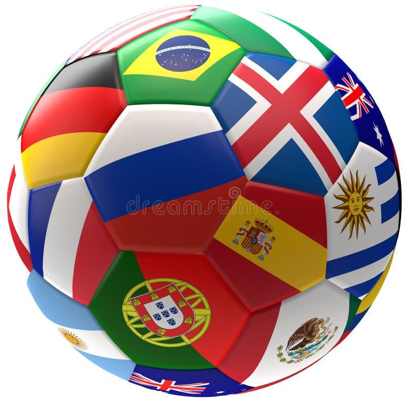 Russia soccer football ball 3d rendering royalty free illustration
