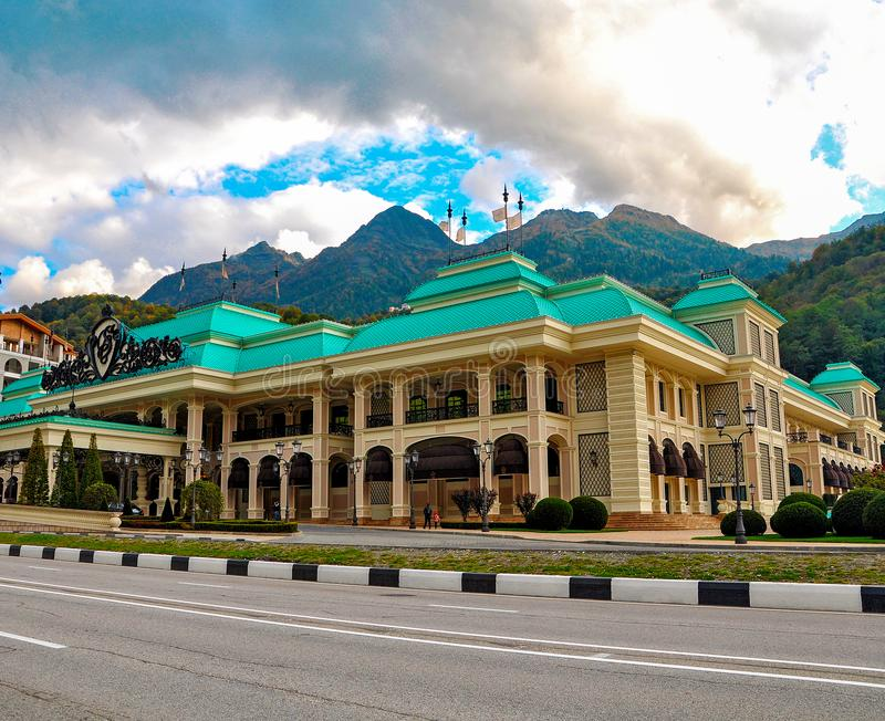 Russia, Sochi-October 11 2017-Casino in the gambling zone of the Russian Federation royalty free stock photography