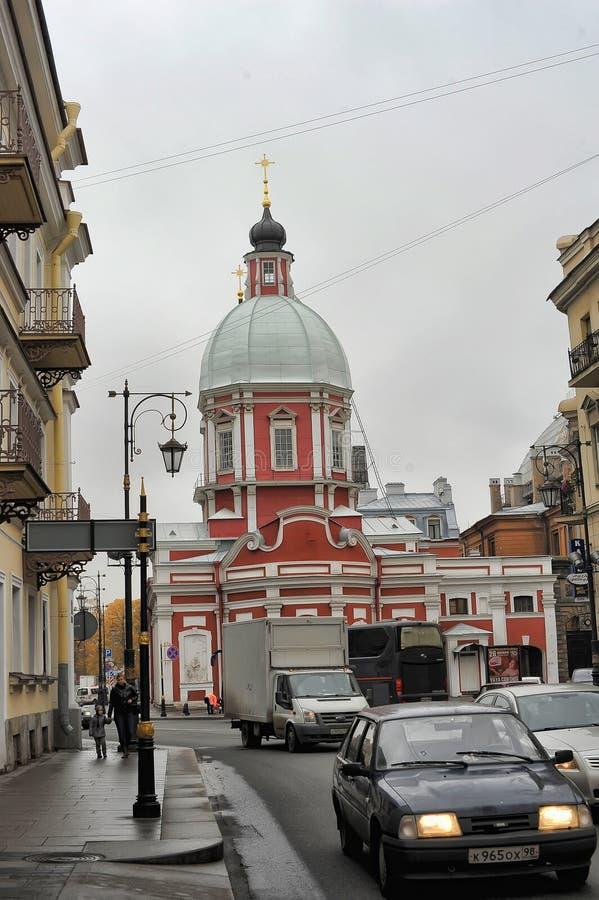 The Church of St. Panteleimon on the Pestel street. Russia, St. Petersburg, 11,10,2013 The Church of St. Panteleimon on the Pestel street royalty free stock photography