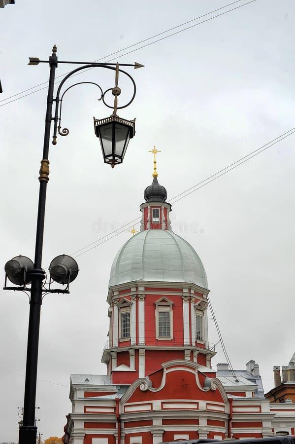 The Church of St. Panteleimon on the Pestel street. Russia, St. Petersburg, 11,10,2013 The Church of St. Panteleimon on the Pestel street stock photos