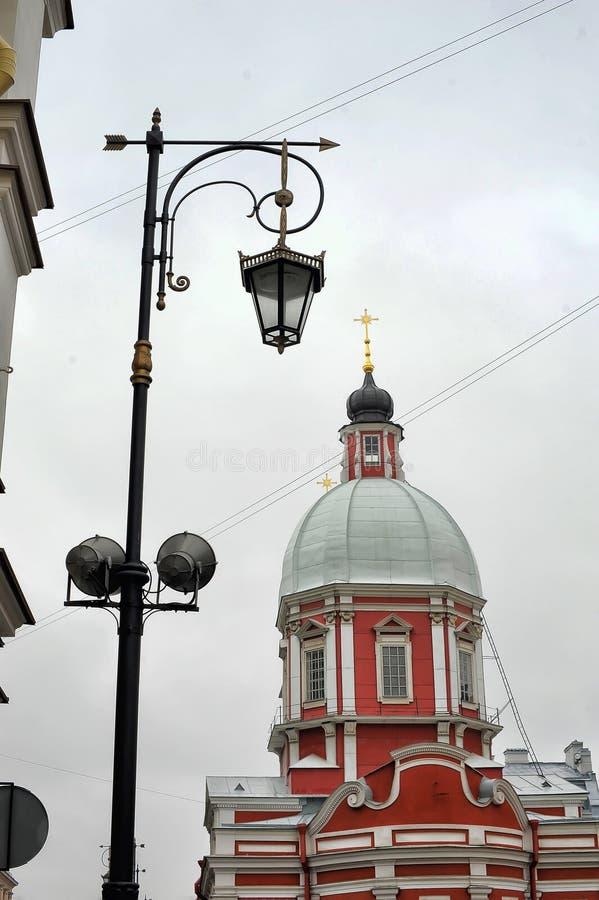 The Church of St. Panteleimon on the Pestel street. Russia, St. Petersburg, 11,10,2013 The Church of St. Panteleimon on the Pestel street stock images