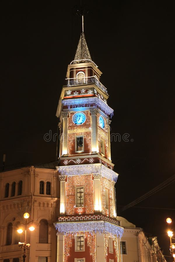 Russia, St. Petersburg, the Duma Tower stock photo