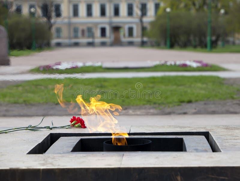Russia. St. Petersburg. Field of Mars. Eternal flame stock images