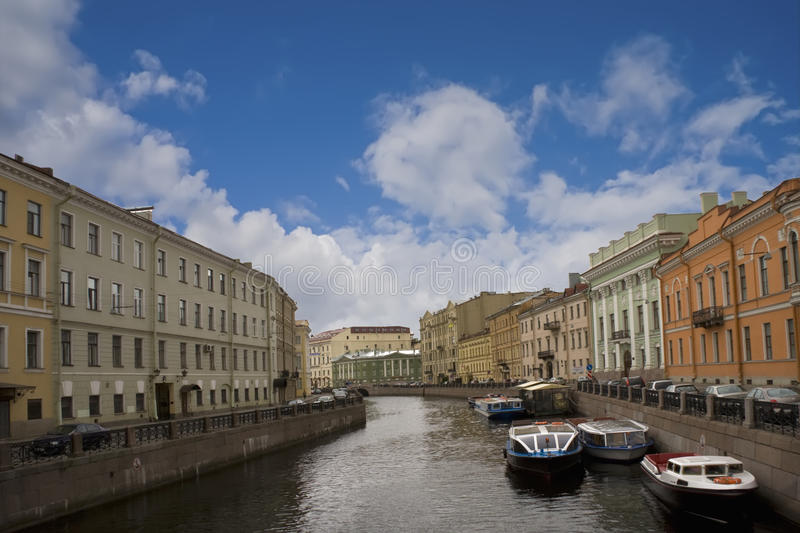 Russia, St. Petersburg, river royalty free stock photography