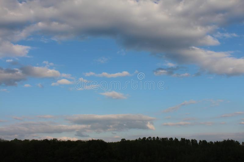 Russia. sunset.Russia. sunset blue sky evening. evening in Russia in the winter. royalty free stock photography